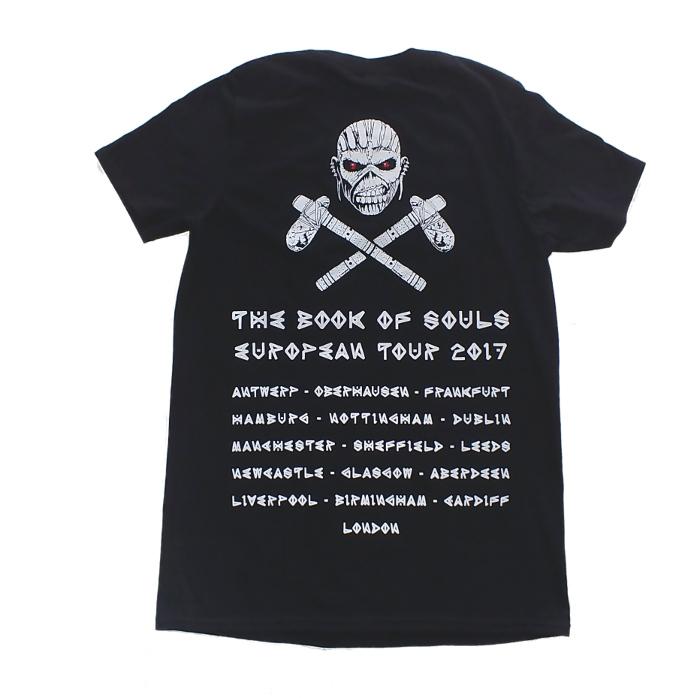 【在庫有り商品】IRON MAIDEN -アイアン・メイデン- THE BOOK OF SOULS「魂の書~ザ・ブック・オブ・ソウルズ~」2017年ヨーロッパ・ツアーTシャツ Sサイズ
