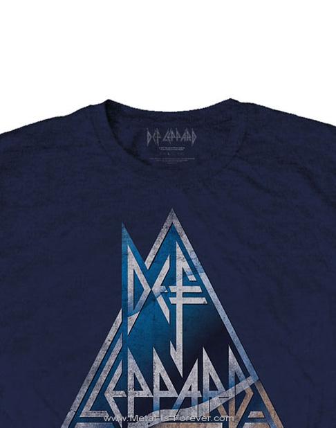 DEF LEPPARD -デフ・レパード- TRIANGLE LOGO 「トライアングル・ロゴ」 Tシャツ(ネイビー)