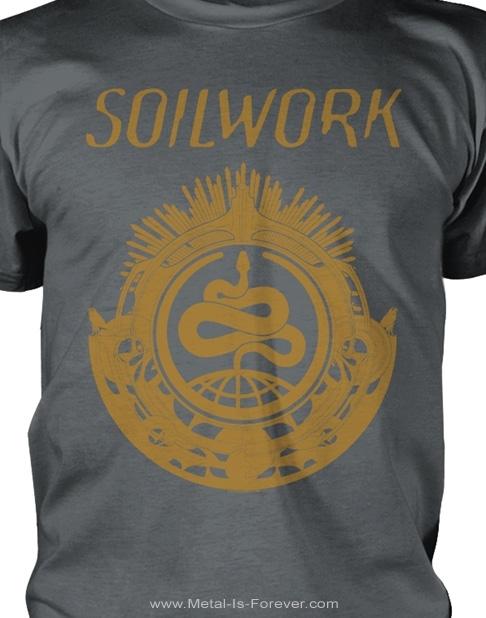 SOILWORK (ソイルワーク) SNAKE 「スネーク」 Tシャツ(チャコール・グレー)