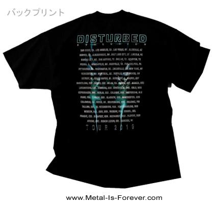 DISTURBED (ディスターブド) EVOLUTION TOUR 2019 「エヴォユーション・ツアー・2019」 Tシャツ