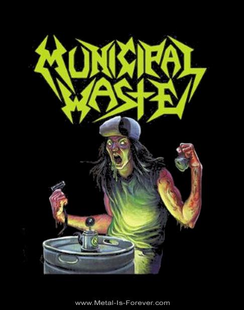 MUNICIPAL WASTE -ミュニシパル・ウェイスト- ART OF PARTYING 「狂気のスラッシュ・パーティー」 Tシャツ