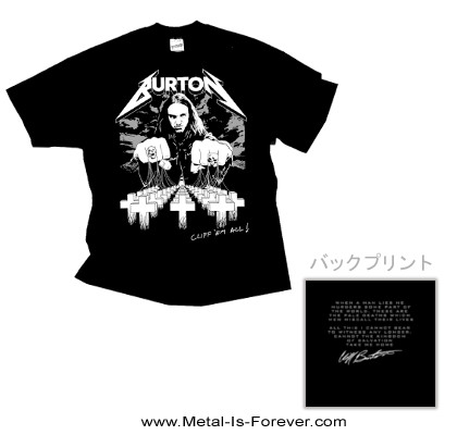 METALLICA -メタリカ- CLIFF 'EM ALL 「クリフ・エム・オール」 Tシャツ