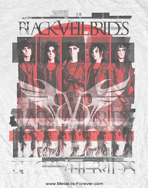 BLACK VEIL BRIDES (ブラック・ヴェイル・ブライズ) GROUP SCATTER 「グループ・スキャッター」 Tシャツ(白)