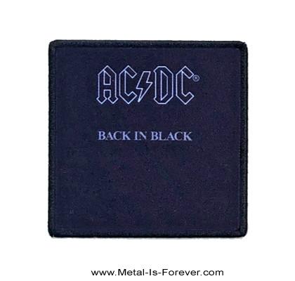 AC/DC (エーシー・ディーシー) BACK IN BLACK 「バック・イン・ブラック」 アイロン・ワッペン