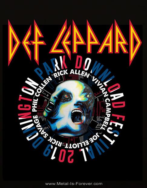 DEF LEPPARD -デフ・レパード- DOWNLOAD FEST 2019 「ダウンロード・フェス・2019」 Tシャツ