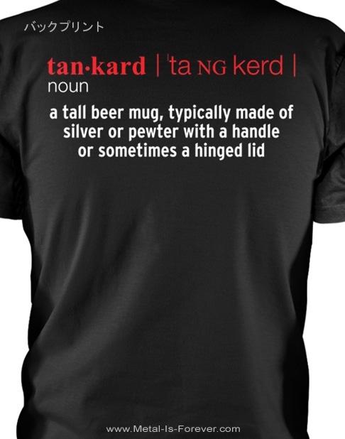 TANKARD (タンカード) ALCOHOLIC METAL 「アルコール・メタル」 Tシャツ