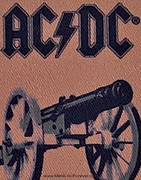 AC/DC (エーシー・ディーシー) FOR THOSE ABOUT TO ROCK (WE SALUTE YOU) 「悪魔の招待状」 アイロン・ワッペン