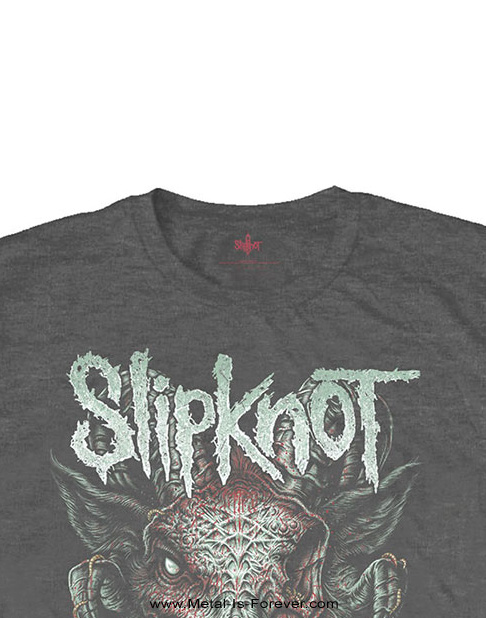 SLIPKNOT (スリップノット) INFECTED GOAT 「インフェクテッド・ゴート」 キッズTシャツ(チャコール・グレー)