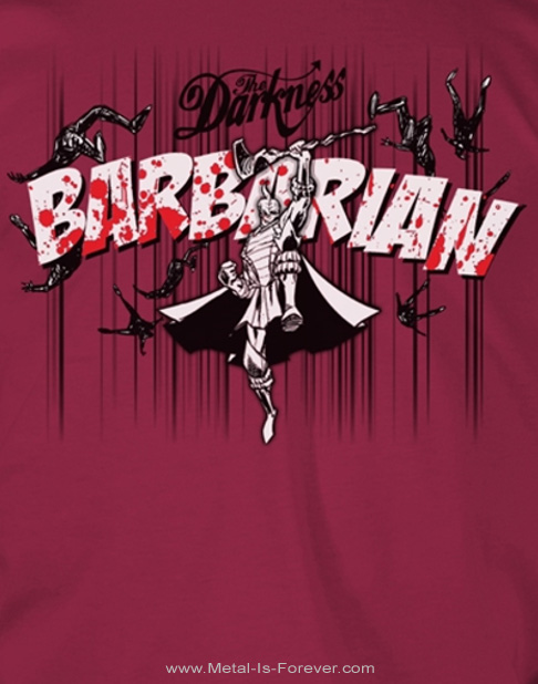 THE DARKNESS -ザ・ダークネス- BARBARIAN 「バーバリアン」 Tシャツ(マルーン)