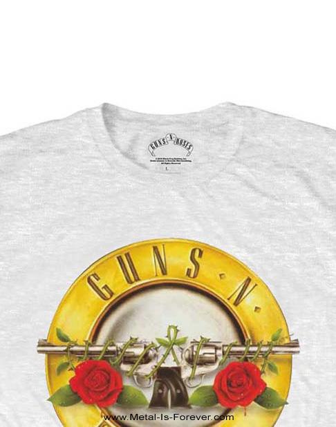GUNS N' ROSES -ガンズ・アンド・ローゼズ- CLASSIC LOGO 「クラシック・ロゴ」 Tシャツ(白)