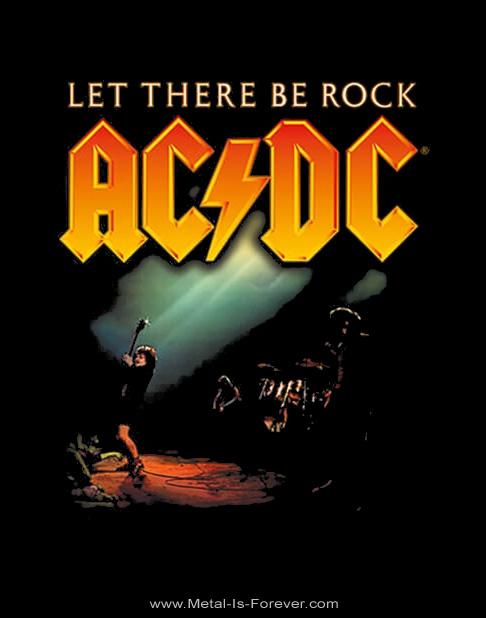 AC/DC (エーシー・ディーシー) LET THERE BE ROCK 「ロック魂」 Tシャツ