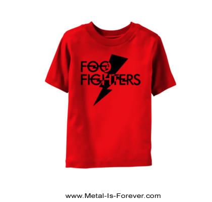 FOO FIGHTERS (フー・ファイターズ) LOGO 「ロゴ」 キッズTシャツ(赤)