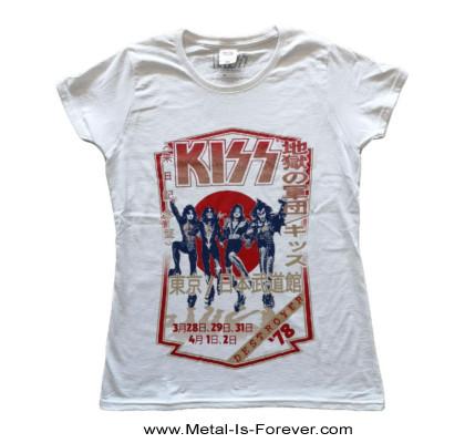 KISS (キッス) DESTROYER TOUR '78 「地獄の軍団・1978年ツアー」 レディースTシャツ(白)