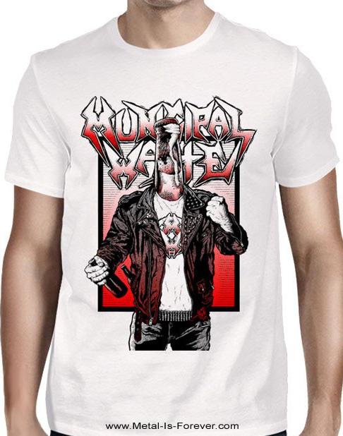 MUNICIPAL WASTE -ミュニシパル・ウェイスト- BOTTLE VIOLENCE 「ボトル・ヴァイオレンス」 Tシャツ(白)