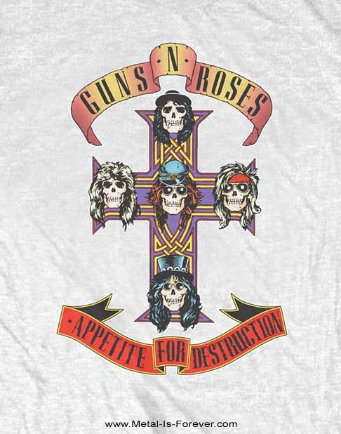 GUNS N' ROSES -ガンズ・アンド・ローゼズ- APPETITE FOR DESTRUCTION 「アペタイト・フォー・ディストラクション」 Tシャツ(白)
