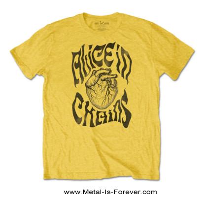 ALICE IN CHAINS (アリス・イン・チェインズ) TRANSPLANT 「トランスプラント」 Tシャツ(黄色)