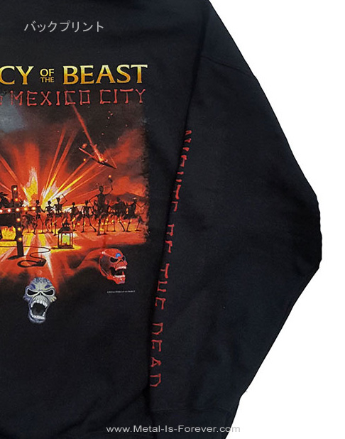 IRON MAIDEN (アイアン・メイデン) NIGHTS OF THE DEAD LEGACY OF THE BEAST: LIVE IN MEXICO CITY 「ナイツ・オブ・ザ・デッド、レガシー・オブ・ザ・ビースト:ライヴ・イン・メキシコシティ」 パーカー ver.2