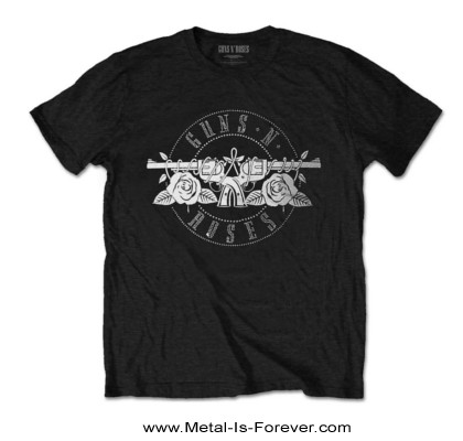 GUNS N' ROSES -ガンズ・アンド・ローゼズ- CIRCLE LOGO 「サークル・ロゴ」 Tシャツ(ラインストーン)