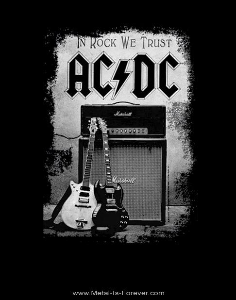 AC/DC (エーシー・ディーシー) IN ROCK WE TRUST 「イン・ロック・ウィ・トラスト」 Tシャツ