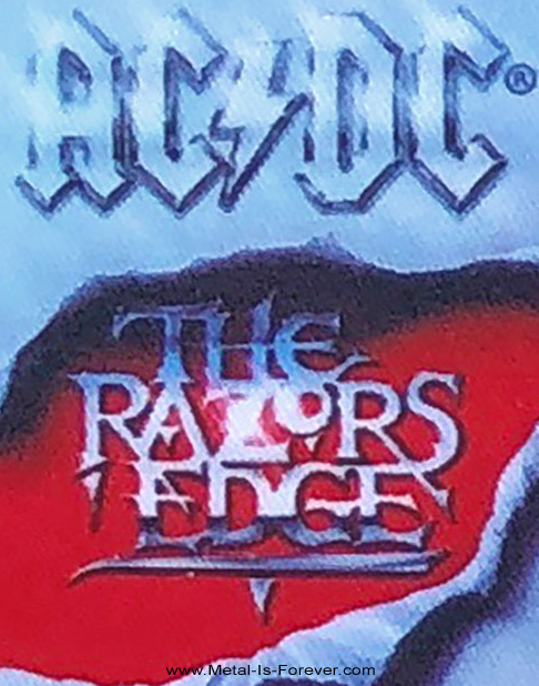 AC/DC (エーシー・ディーシー) THE RAZORS EDGE 「レイザーズ・エッジ」 アイロン・ワッペン