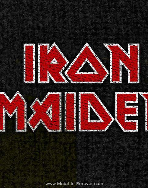 IRON MAIDEN (アイアン・メイデン) RED LOGO 「レッド・ロゴ」 リストバンド