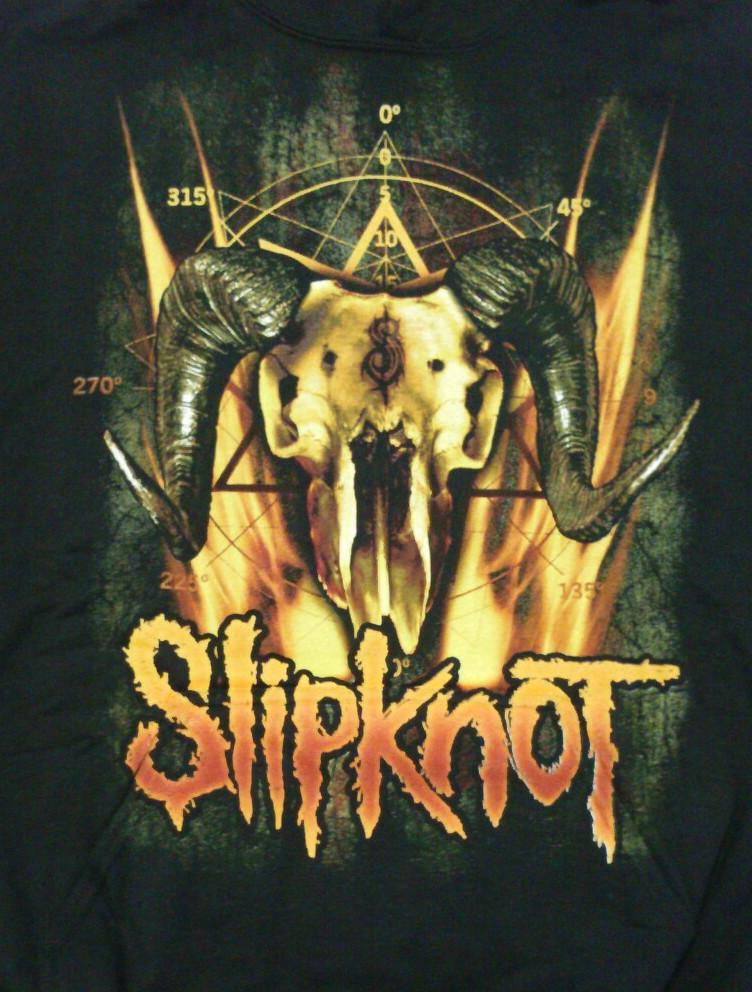 【在庫有り商品】SLIPKNOT -スリップノット- CATTLE SKULL 「キャトル・スカル」 パーカー Lサイズ