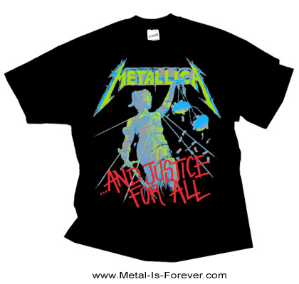 METALLICA -メタリカ- ...AND JUSTICE FOR ALL 「メタル・ジャスティス」 Tシャツ