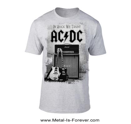 AC/DC (エーシー・ディーシー) IN ROCK WE TRUST 「イン・ロック・ウィ・トラスト」 Tシャツ(グレー)