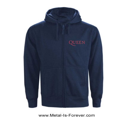 QUEEN -クイーン- CLASSIC CREST 「クラシック・クレスト」 ジップ・パーカー(ネイビー・ブルー)