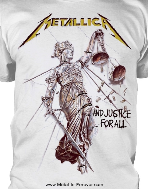 METALLICA -メタリカ- ...AND JUSTICE FOR ALL 「メタル・ジャスティス」 Tシャツ(白)