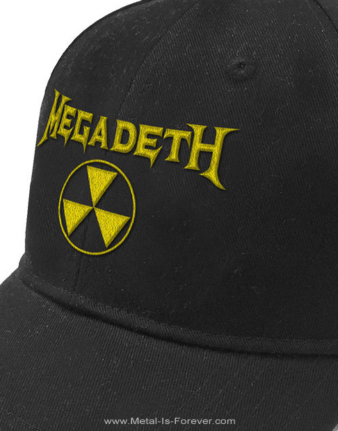 MEGADETH -メガデス- HAZARD LOGO 「ハザード・ロゴ」 ベースボールキャップ