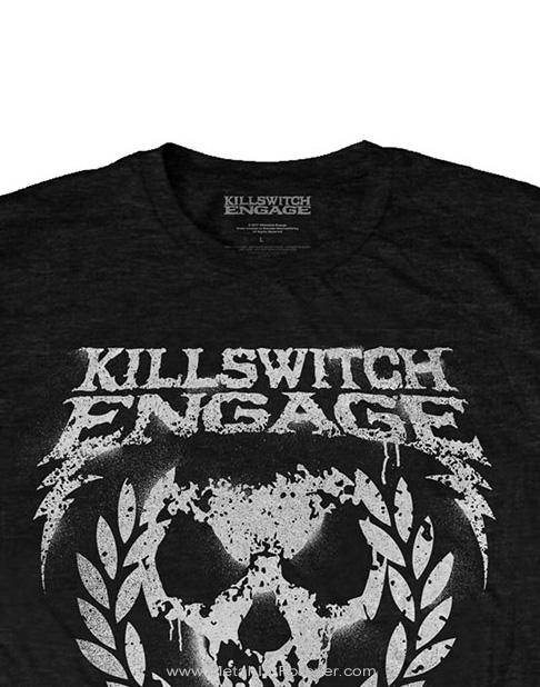 KILLSWITCH ENGAGE (キルスウィッチ・エンゲイジ) SKULL SPRAYPAINT 「スカル・スプレーペイント」 Tシャツ