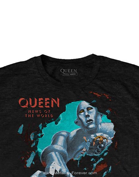 QUEEN (クイーン) NEWS OF THE WORLD 「世界に捧ぐ」 Tシャツ Ver.2