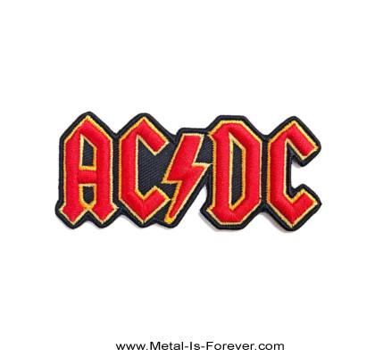 AC/DC (エーシー・ディーシー) CUT-OUT 3D LOGO 「カットアウト・3D・ロゴ」 アイロン・ワッペン