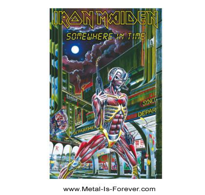 IRON MAIDEN (アイアン・メイデン) SOMEWHERE IN TIME 「サムホエア・イン・タイム」 布製ポスター