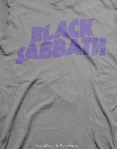 BLACK SABBATH -ブラック・サバス- PURPLE LOGO 「パープル・ロゴ」 Tシャツ(グレー)