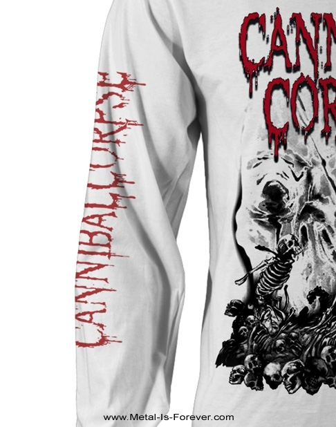 CANNIBAL CORPSE -カンニバル・コープス- PILE OF SKULLS 2018 「パイル・オブ・スカル・2018」 長袖Tシャツ(白)