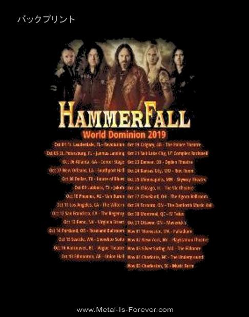 HAMMERFALL (ハンマーフォール) DOMINION 「ドミニオン」 2019ツアー Tシャツ