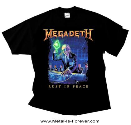 MEGADETH (メガデス) RUST IN PEACE 「ラスト・イン・ピース」 トラック・リスト Tシャツ