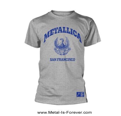 METALLICA (メタリカ) COLLEGE CREST 「カレッジ・クレスト」 Tシャツ(グレー)