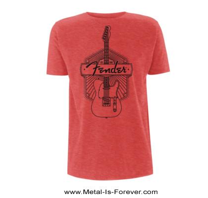 FENDER -フェンダー- FENDER EST. 1946 「フェンダー・エスト・1946」 Tシャツ(赤)