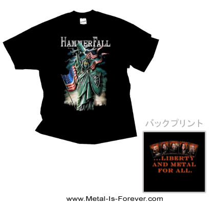 HAMMERFALL (ハンマーフォール) LIBERTY AND METAL FOR ALL 「リバティー・アンド・メタル・フォー・オール」 Tシャツ
