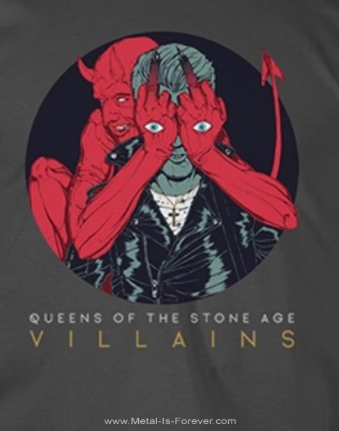 QUEENS OF THE STONE AGE (クイーンズ・オブ・ザ・ストーン・エイジ) VILLAINS 「ヴィランズ」 Tシャツ(チャコールグレー)