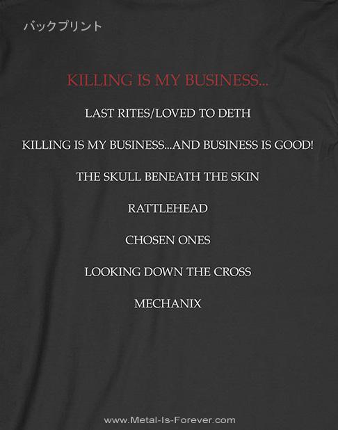 MEGADETH (メガデス) KILLING IS MY BUSINESS 「キリング・イズ・マイ・ビジネス」 トラック・リスト Tシャツ