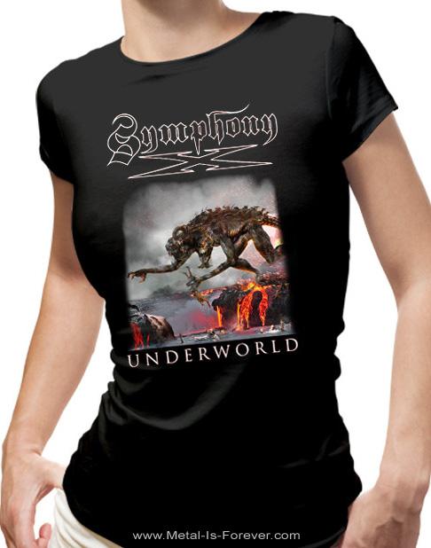 SYMPHONY X -シンフォニー・エックス- UNDERWORLD 「アンダーワールド」 モンスター レディースTシャツ