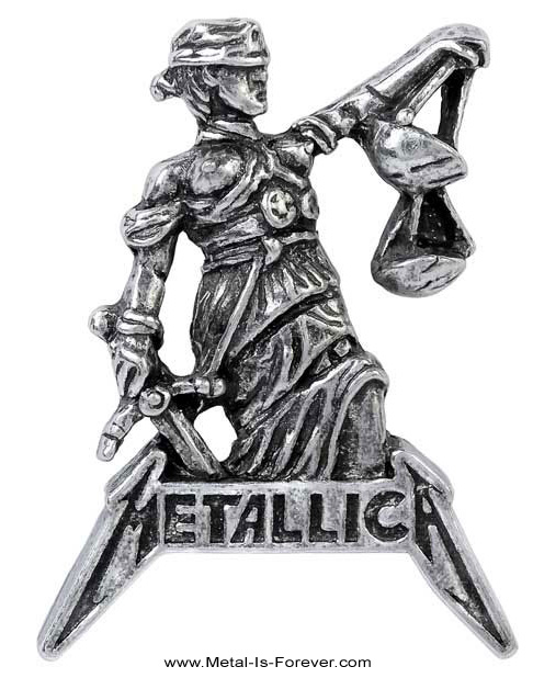 METALLICA -メタリカ- ...AND JUSTICE FOR ALL 「メタル・ジャスティス」  ピンバッジ