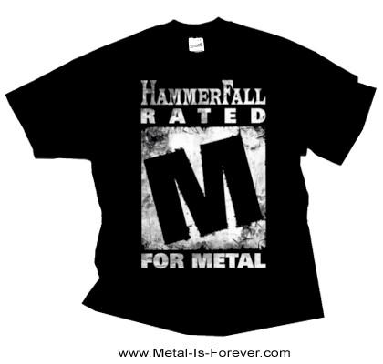 HAMMERFALL (ハンマーフォール) RATED M 「レイテッド・M」 Tシャツ