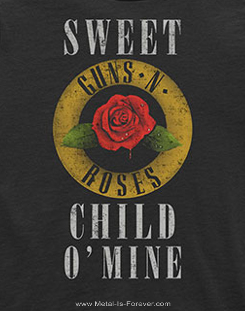 GUNS N' ROSES (ガンズ・アンド・ローゼズ) SWEET CHILD O' MINE 「スウィート・チャイルド・オブ・マイン」 ローズ キッズ Tシャツ