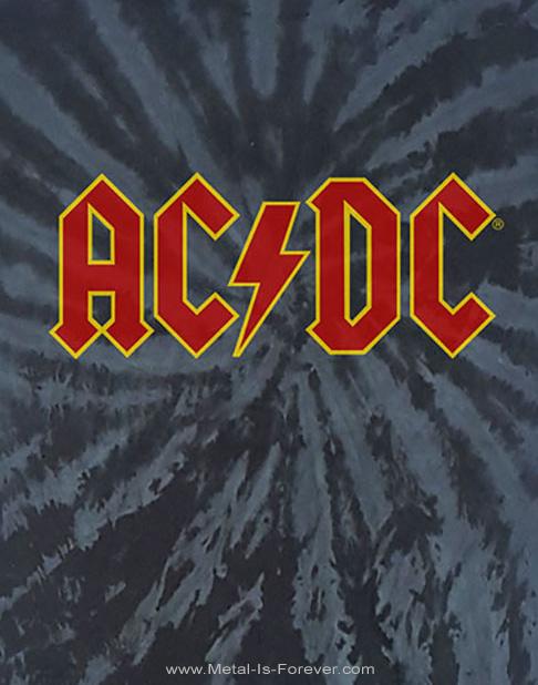AC/DC (エーシー・ディーシー) LOGO 「ロゴ」 絞り染めTシャツ