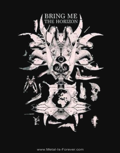 BRING ME THE HORIZON (ブリング・ミー・ザ・ホライズン) SKULL & BONES 「スカル・アンド・ボーンズ」 Tシャツ
